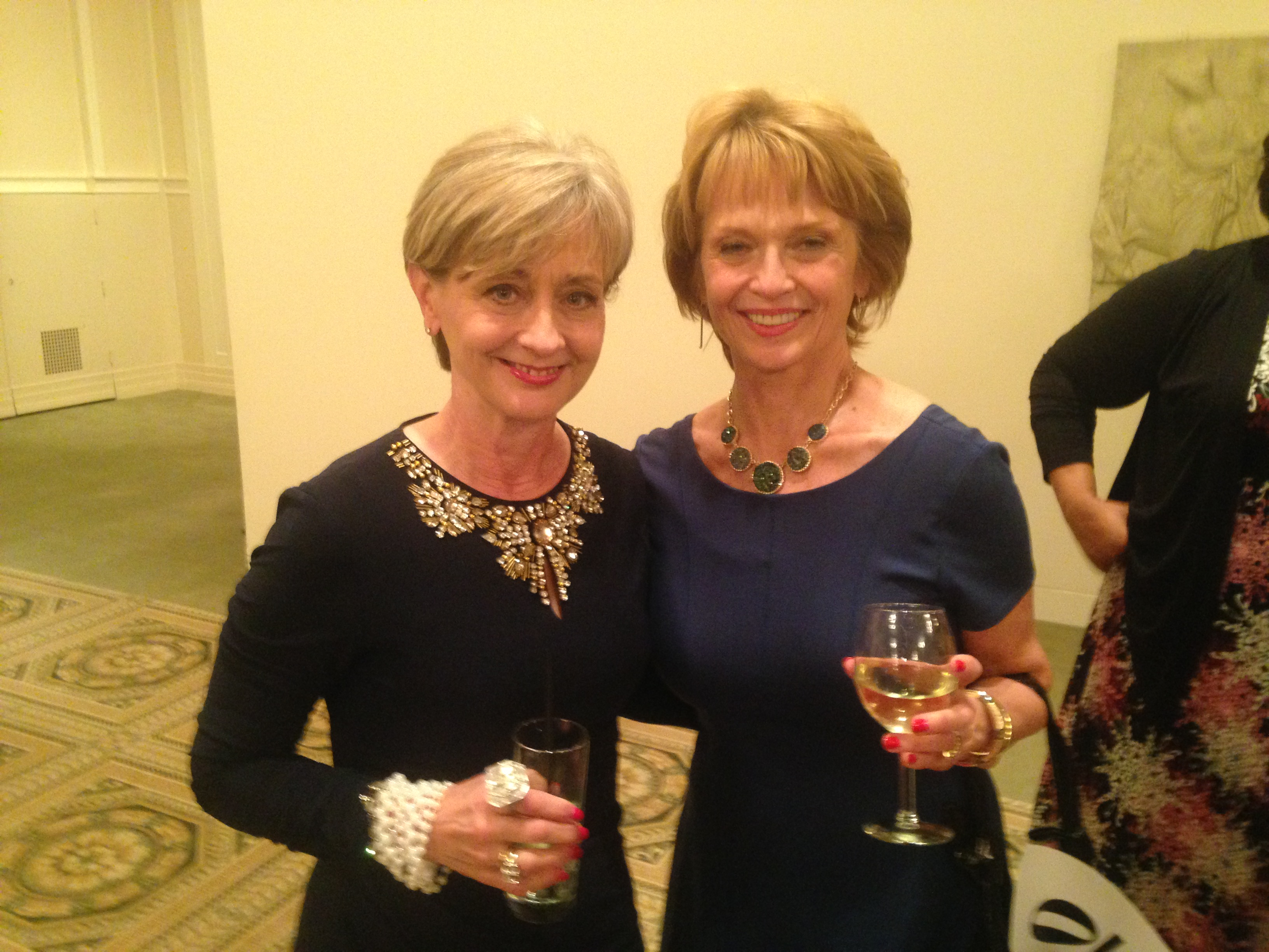 Clarinda Hanson White with Barb Attridge Co-Founder of Dress for Success Oregon April 2014 Fundrais