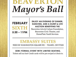 Fundraising on a Mission sponsors the 8th Annual Beaverton Mayor's Ball