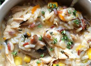 Creamy Chicken Mushroom & Rice Stew