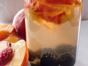 Peach & Blackberry White Sangria