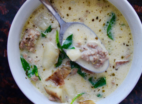 Creamy Italian Sausage Spinach & Potato Soup