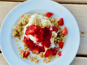 Deconstructed Strawberry Rhubarb Crumble