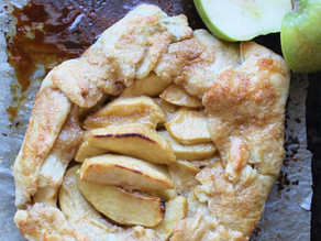 Apple Galette with Brown Sugar Bourbon Glaze