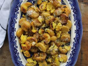 Rosemary Garlic & Parmesan Smashed Potatoes