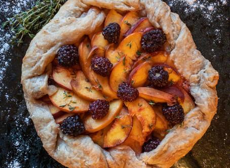 Peach Blackberry & Thyme Galette