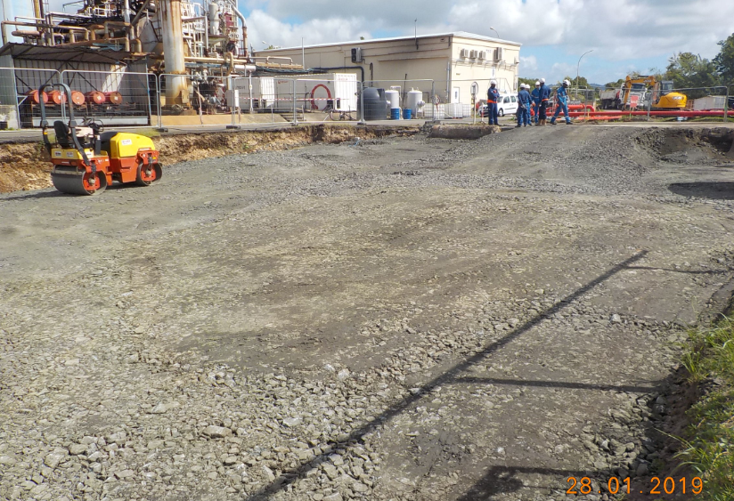 Continuation of drilling platform preparation