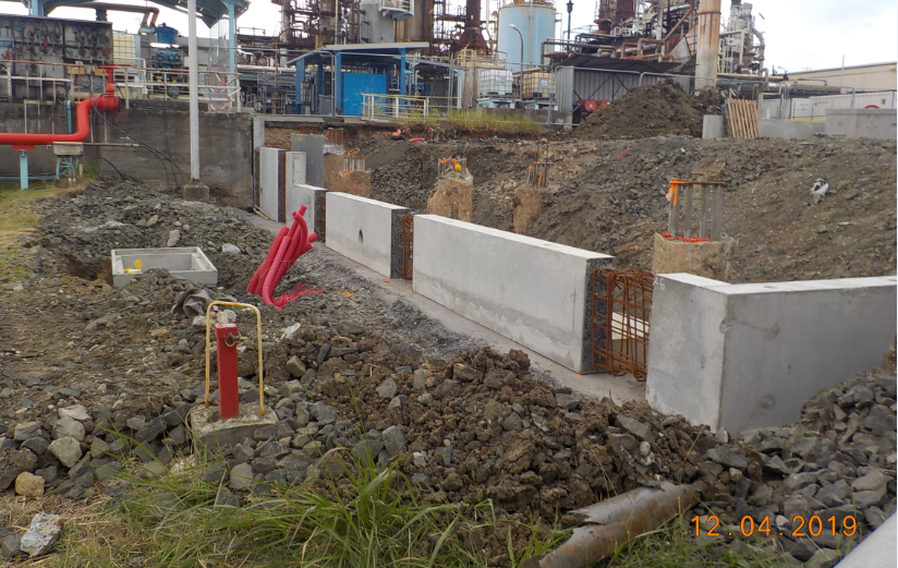 Realization of west Retaining Wall