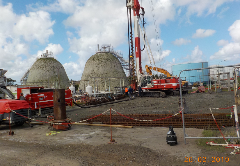 Work of piles drilling