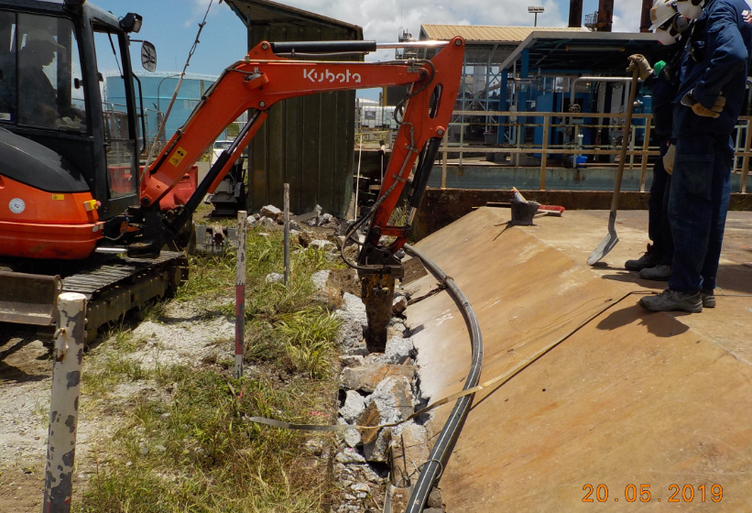 Preparation of areas for micropiles
