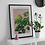 Framed Spider Plant print mounted on a white side table