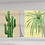 Row of 6 vintage style botanical wall art prints from the Orla Ros Retro House Plants range