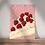 unframed wall art print depicting a slice of raspberry pavlova