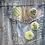 4 retro house plant button pin badges on a denim jacket