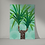Retro inspired unframed print of a Yucca Plant