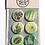 A set of 6 Orla Ros retro house plant button badges