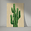 Vintage style unframed print of a Cactus Plant from the Orla Ros Retro House Plants range