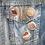 4 retro dessert button pin badges on a denim jacket