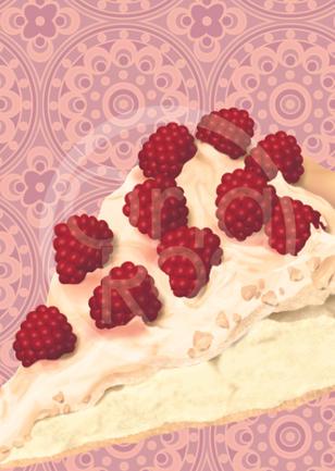 Raspberry Pavlova Print
