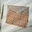Geometric patterned mini print postcard 'Joni' with an owl grey envelope