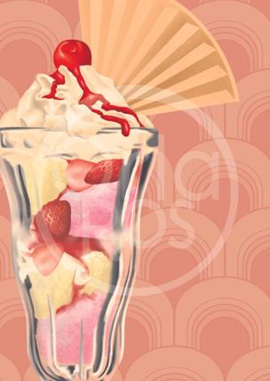 Knickerbocker Glory Ice Cream Sundae Print
