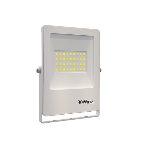 Refletor Ultrafino LED Bivolt Branco 3000K 30W 2400 Lúmens