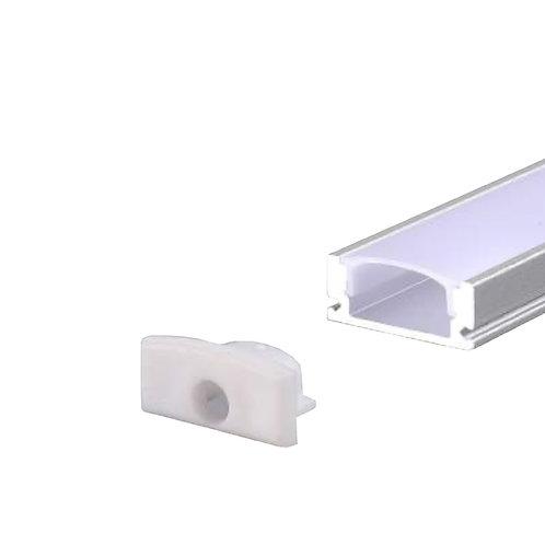 Perfil de Alumínio Sobrepor para LED - 2 Metros
