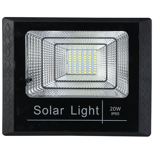 REFLETOR SOLAR 20W COM CONTROLE REMOTO