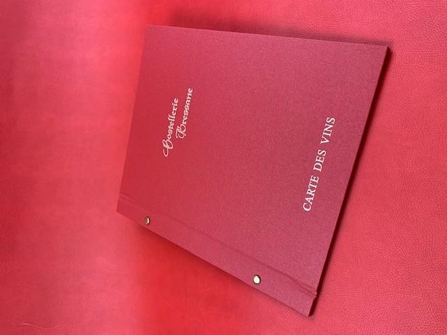 Mini orval toile rouge Carte des vins