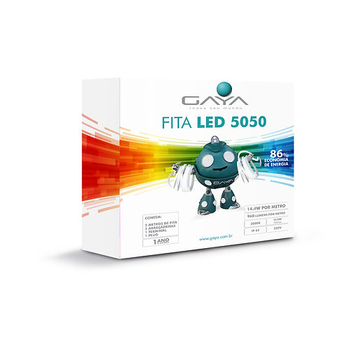 KIT FITA LED 5050 14.4W 5M