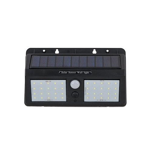 Luminária Solar Dupla LED Sensor Presença e Luz