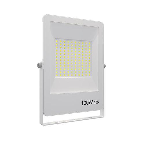 Refletor Ultrafino LED Bivolt Branco 3000K 100W 8000 Lúmens