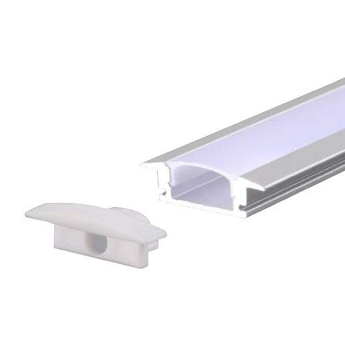 Perfil de Alumínio Embutir para LED - 1 Metro