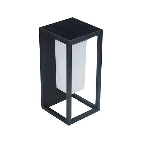 Luminária Solar Alumínio Design Sensor Luz e Presença 2W