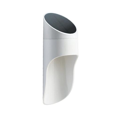 Arandela Solar Alumínio Design Sensor Luz e Presença 1W