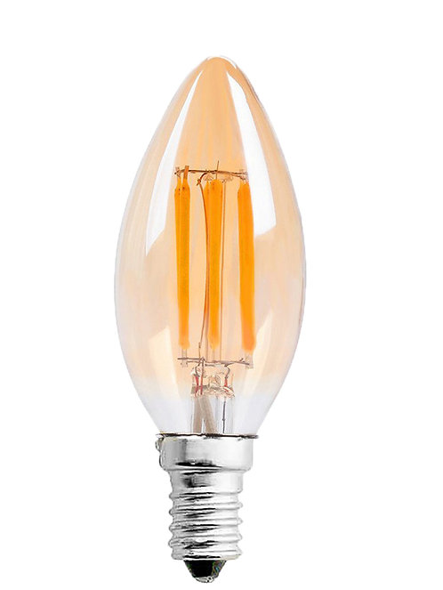 LAMPADA DE FILAMENTO 2400K LENTE AMBAR C35 4W