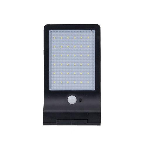 Luminária Solar Parede e Poste LED Sensor Presença e Luz