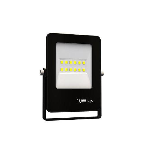Refletor Ultrafino LED Bivolt Preto Luz Verde 10W 800 Lúmens