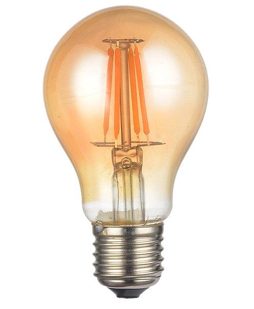 Lâmpada Filamento LED Bulbo A60 Bivolt Âmbar