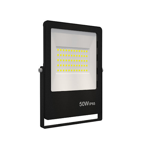 Refletor Ultrafino LED Bivolt Preto 6500K 50W 4000 Lúmens