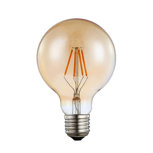 Lâmpada Filamento LED Globo G95 Bivolt Âmbar