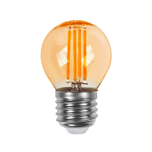 Lâmpada Filamento LED Mini Globo G45 Âmbar