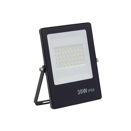 Refletor Ultrafino LED Bivolt Preto Luz Verde 30W 2400 Lúmens