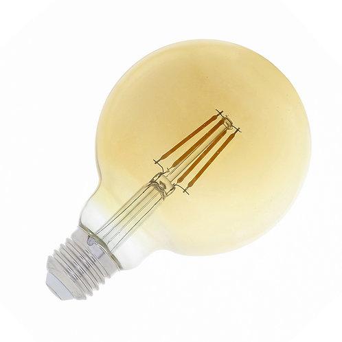 LAMPADA FILAMENTO 2400K LENTE AMBAR G125 4W BIVOLT 400LUMENS