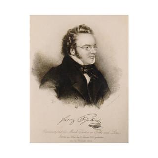 Teltscher: Lithograph of Schubert, c1826