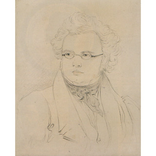Lieder?: Coloured pencil drawing after the Lieder sketch, c1827