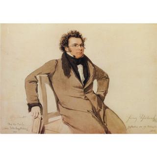 Rieder: Aquarell of Schubert, 1825