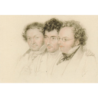 Teltscher: Jenger, Hüttenbrenner, Schubert, c1827