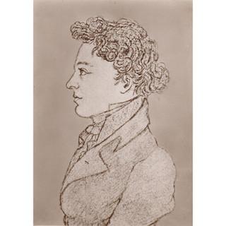 Schober?: Side view of Schubert