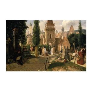 Schwind: Spaziergang vor dem Stadttor (1827)