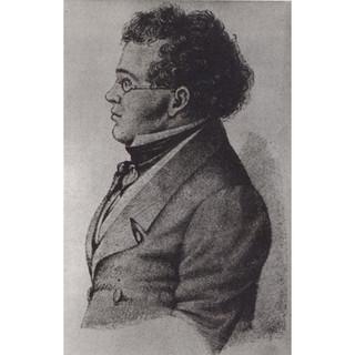 Schwind?: Side view of Schubert